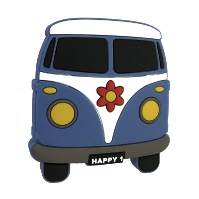 Knop hippiebuss, gummi